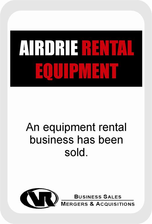 Airdrie Rental Equipment