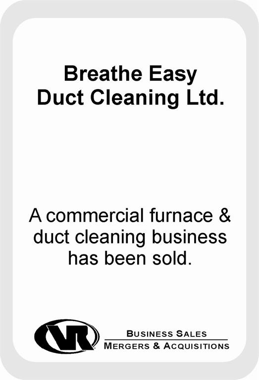 furnace and duct cleaning business sale