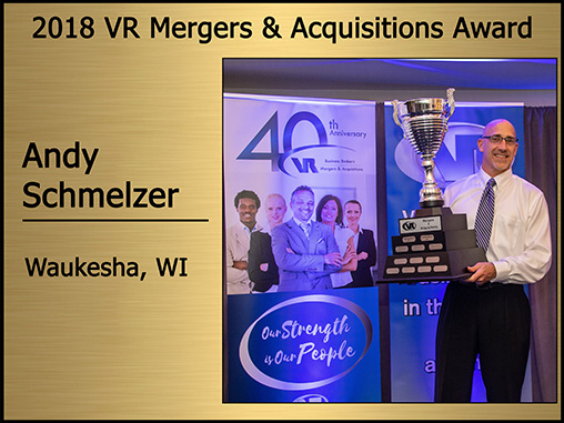 Andy Schmelze 2018 Mergers and Acquisitions award